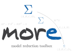 MORE ... a MOdel REduction toolbox